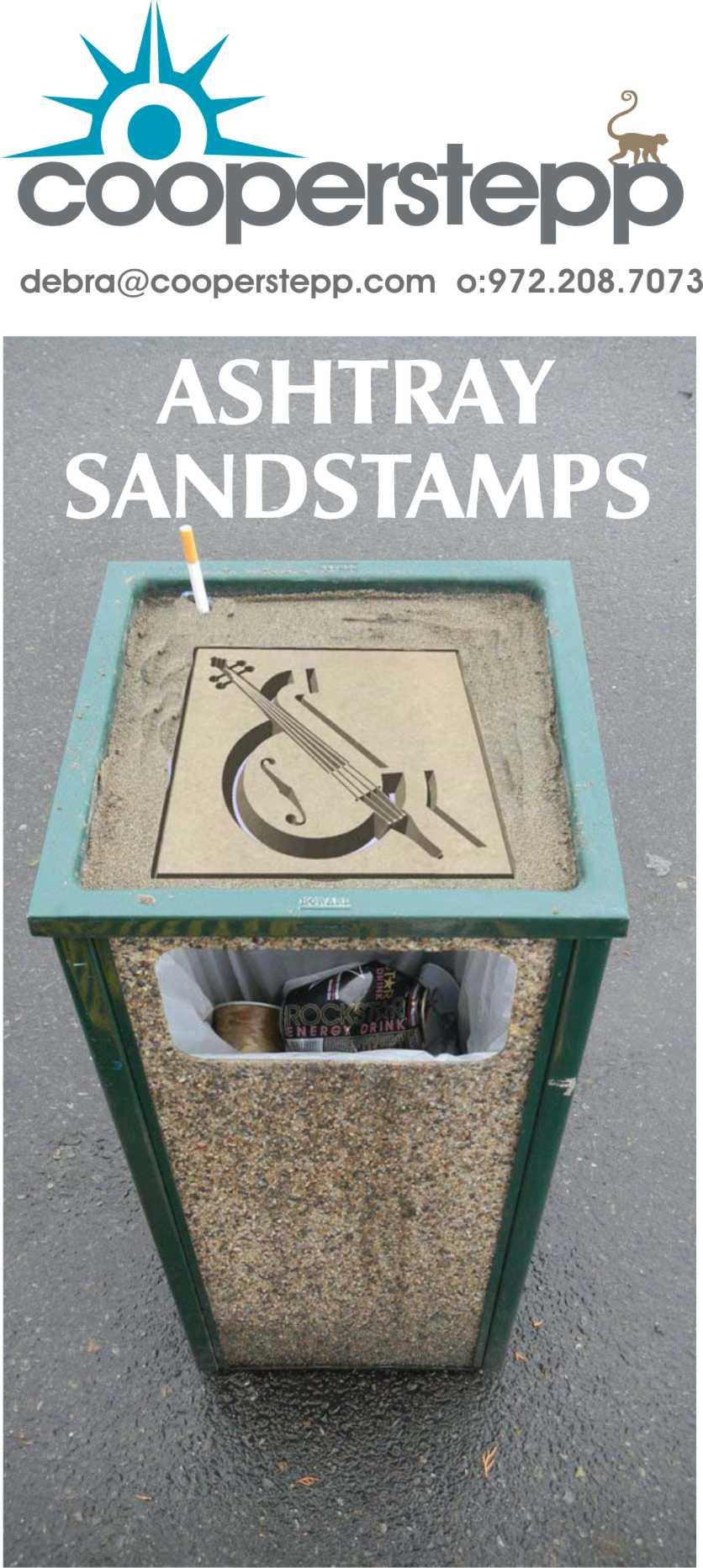 Logo Sand Stamp Golf Beach Sand Volleyball Sand Ashtrays