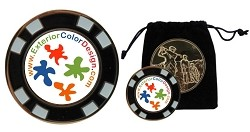 Metal Poker<br> Chip Ball Markers <br>w/Pouch
