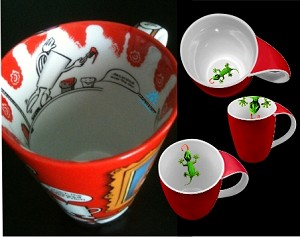 Custom Imprint Inside - Bottom Over Rim <br> & Scratch Off <Br> Ceramic Mugs