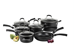 NEW! LOGO'D Studio Cuisine™ 12 Piece Aluminum Cookware Set