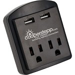 ETL Listed Clime Dual USB Outlet and AC Adapter