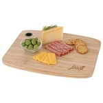 Large Bamboo Cutting Board with Silicone Grip